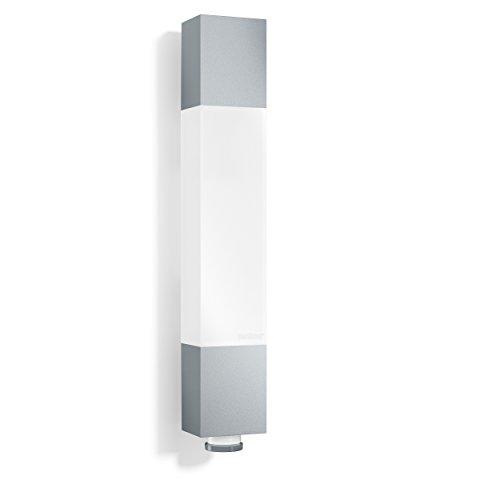 Steinel luminaire extérieur L 631 LED argent - applique murale à détecteur de mouvement 360° - portée 8m - puissance 8 -2W