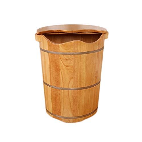 Pediluvio CYLQ Vaas voor voeten, van hout, voor voeten en voeten, grote badkuip voor onderdompelen, massage voor pedicure, voetbekken, voetpoten en doldieren, emmer voor Pediluvio 50 cm