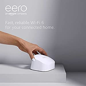 All-new Amazon eero 6 dual-band mesh Wi-Fi 6 system | with built-in Zigbee smart home hub | 2-pack