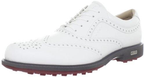 ECCO Men's Tour Hybrid Wing Tip Golf Shoe,White/Brick,47 EU/13-13.5 M US