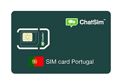 Internationale SIM-Karte für Reisen nach PORTUGAL und rund um den Globus - ChatSim - Empfang in 165 Ländern, Roaming weltweit - Mehrfachanbieternetz GSM/2G/3G/4G, keine Fixkosten. 1GB für 30 Tage