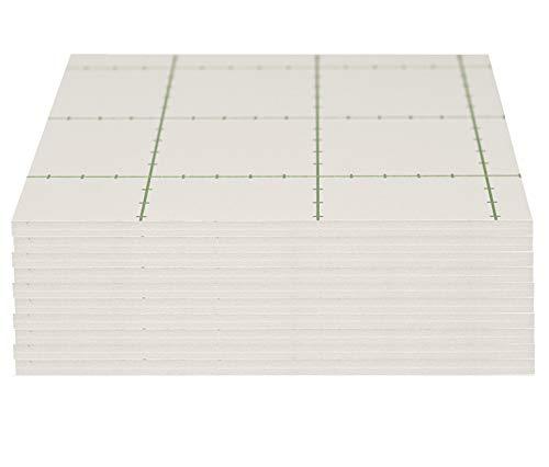 10 Stück Selbstklebende (einseitig) Leichtschaumplatten - 5mm - Weiss - Format: A3 (29,7x42cm)