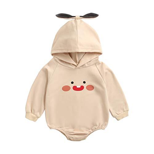 UMore Recién Nacido Infantil Bebé Pijama de Algodón Conejo 3D Oreja CáLido Mameluco con Capucha Ropa del Mono Ropa Conjunto