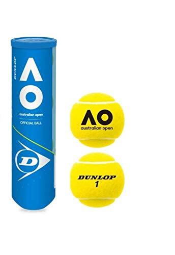 DUNLOP Australian Open Bi-Pack Tennisball 2 x 4er Dosen 8 Bälle