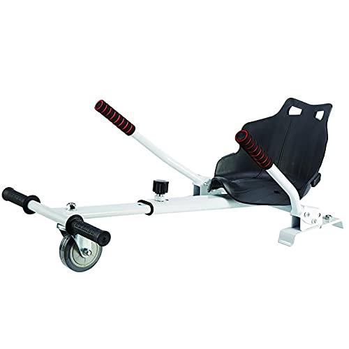 LHZMD Hoverkart Silla para Hoverboard Electrico Hover Kart Ajustable para Patinete Eléctrico Asiento Kart Adaptarse A 6.5 8 10 Pulgadas Hoverboard Go Kart con Asiento para Niños Y Adulto,B