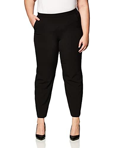 Briggs New York Women's Pull On Dress Pant Average Length & Short Length, Black, 12