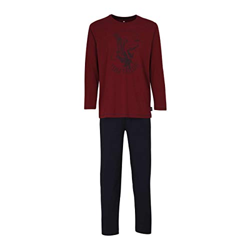 TOM TAILOR Herren Pyjama rot Melange 1er Pack 54