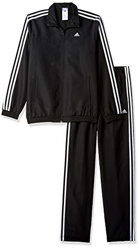 Adidas Men's Synthetic Tracksuit (B47003_Black-White_Medium)