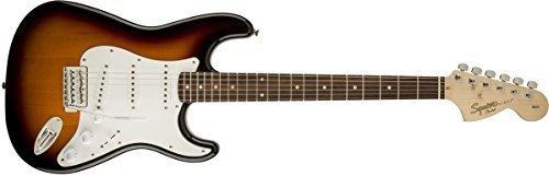 Squier® de Fender - Serie Affinity Stratocaster® - Guitarra eléctrica, color sunburst...