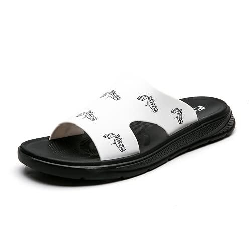 COOPCUP Zapatillas de playa para hombre Comfort EVA para interiores y exteriores, color Negro, talla 44 EU