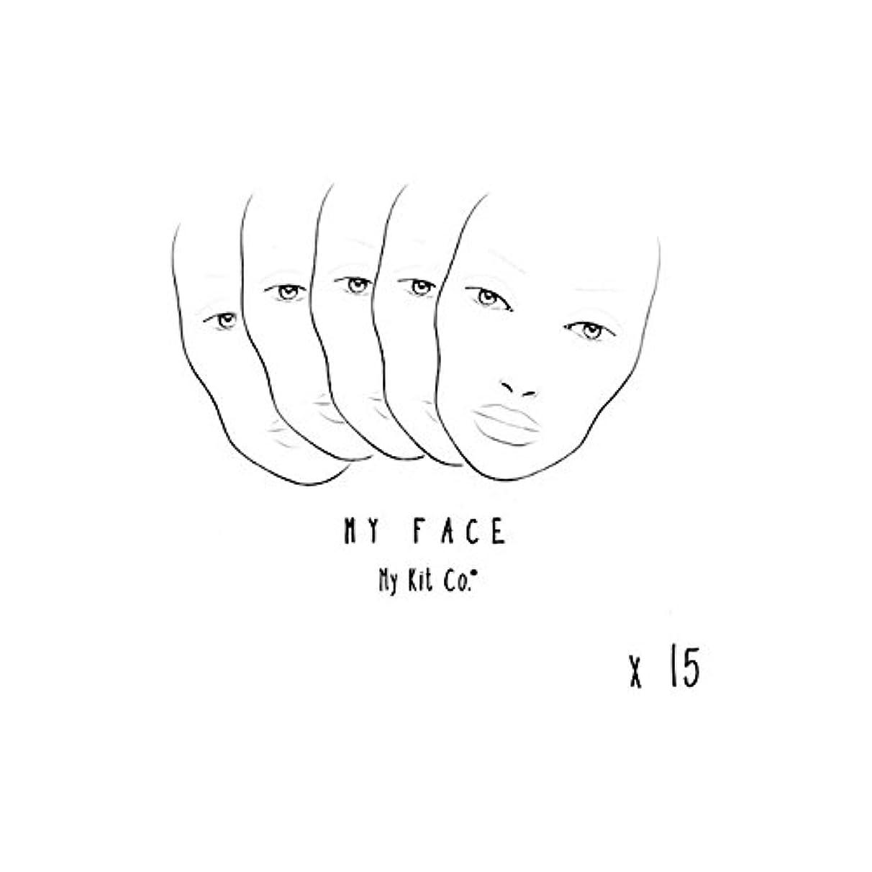 疑わしいサークル不適当私のキットには、私の顔チャートの15を共同しました x2 - My Kit Co My Face Charts X15 (Pack of 2) [並行輸入品]