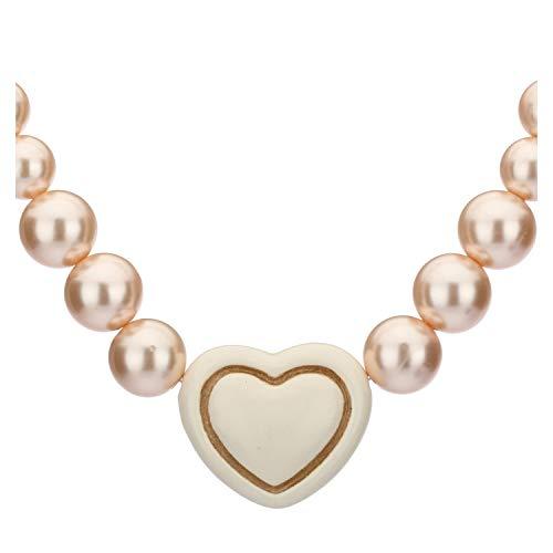 THUN ® - Collana'Old classic l'amour' con cuore bianco