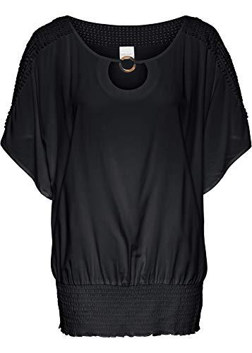 bonprix Feminine Bluse mit halbem Ärmel schwarz 40 für Damen