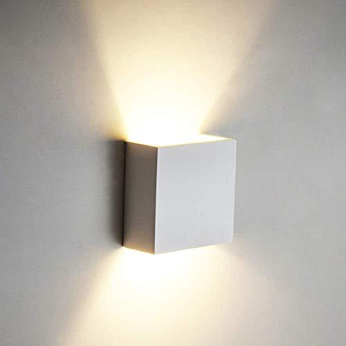 6 W LED-Wandleuchte / -Wandlampe aus Aluminium Ideal für Wohnzimmer Badezimmer Treppenhaus-Beleuchtung als Nachtlicht Warmweiß [Energieklasse A++]