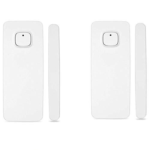 Intelligenter Fenstertürmagnet-Sensordetektor Kompatibel mit Alexa Google Home, die vom Telefon iPhone-Tablet für Einbruch-Alarmsystem gesteuert wird(mit Batterie)