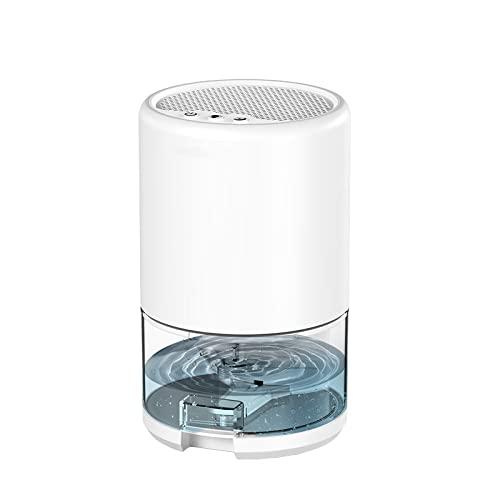 Deshumidificador Eléctrico - Deshumidificador Portátil 1000ml Deshumidificador De Habitación Secador De Aire Deshumidificador Para Dormitorio, Baño, Garaje Portátil Ultra Silencioso,White