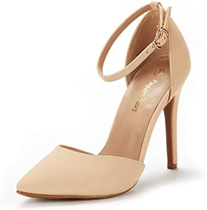 DREAM PAIRS Women s Oppointed Lacey Nude Nubuck Fashion Dress High Heel Pointed Toe Wedding product image