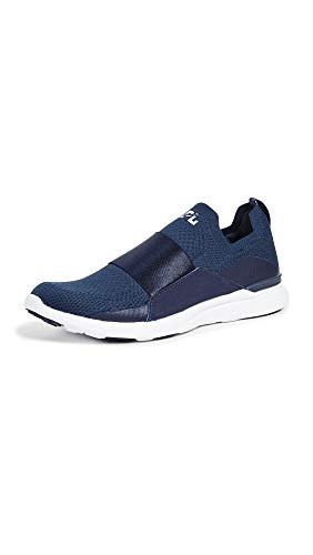 APL: Athletic Propulsion Labs Women's Techloom Bliss Sneakers, Navy/White, 8 Medium US
