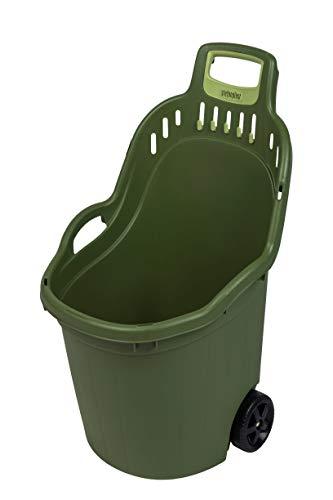 Kreher Gartentrolley HELPY mit 60 Liter Nutzvolumen, belastbar bis max. 65 kg. Räder auf Metallachse. In Grau oder Grün (Grün)