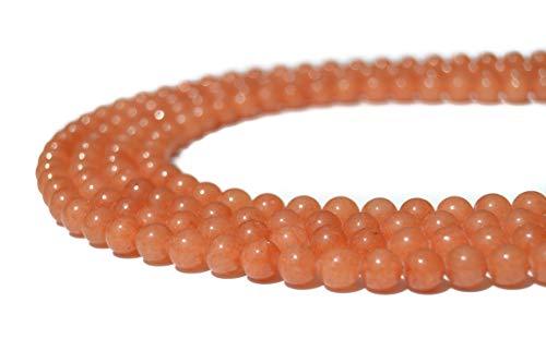 Abalorios o Cuentas para hacer Pulseras, Collares, DIY de Piedras Naturales Yoga, Reiki, 7 Chakras, Gemoterapia, Aromaterapia, Litoterapia (Pack de 3 hilos) (10mm, aventurina naranja)