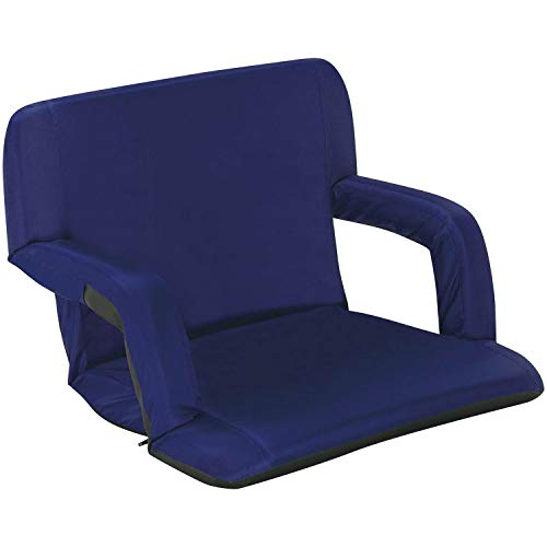 Naomi Home Venice Stadium Seat for Bleachers Portable Reclining with Armrest Royal Blue/Grande