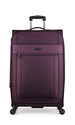 Antler Translite Exclusive Large Soft Shell Suitcase with TSA Lock, Aubergine, Size: 81 x 49 x 31