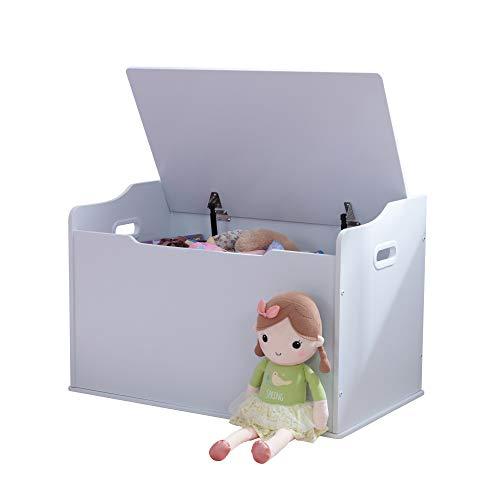 KidKraft Austin Baúl con Tapa para almacenaje de Juguetes de Madera, Muebles para Salas de Juego y Dormitorio de niños, Blanco , color/modelo surtido