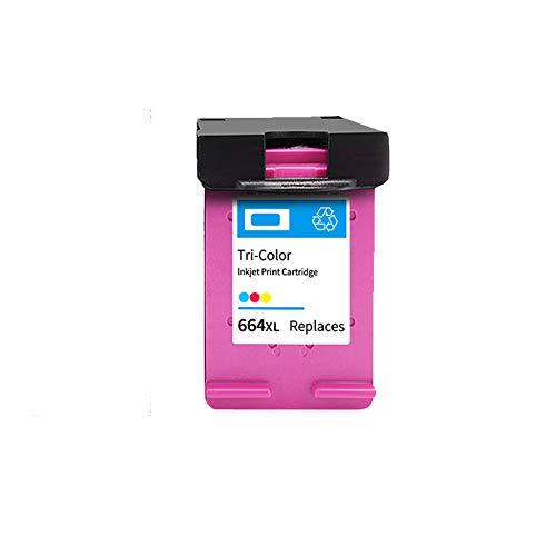 SSBY Reemplazo de Cartucho de Tinta remanufacturado para HP 664 664XL, para Usar con Deskjet Ink Advantage Deskjet 1115 1118 2135 2136 2138 2675 Cartucho de Tinta de Alto Rendimiento de página-Color