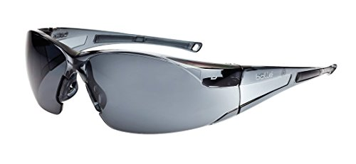 Bollé Safety Brille Rush mit randlosem Rahmen, Smoke Anti-Fog/Anti-Scratch, 253-RH-40071, 40071