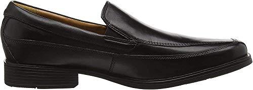 Clarks Men's Tilden Free Slipper, Schwarz (Black Leather), 43 EU