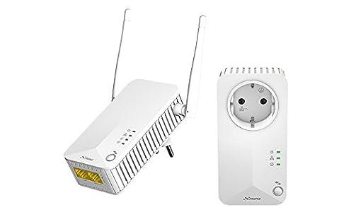 Strong Powerline Wi-Fi 500 Kit Adaptadores de comunicación por línea eléctrica (Homeplug AV, Wifi, PLC, Powerline Alta Velocidad 300Mbps, 2 Puertos Ethernet)