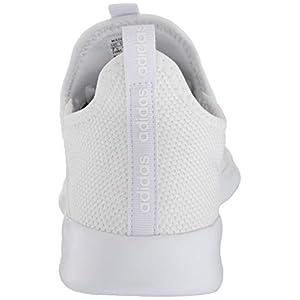 adidas Women's Cloudfoam Pure Running Shoe, White/White/Light Granite, 9 Medium US