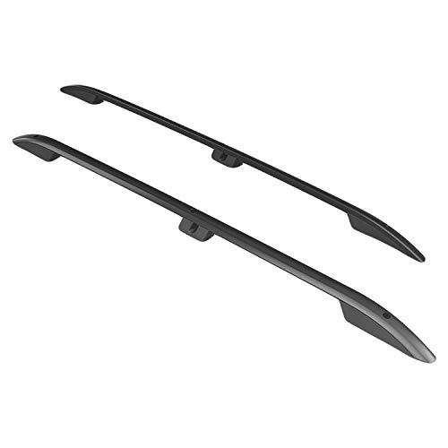RE&AR Tuning Barras de Techo Aluminio rieles Portaequipajes Barras Superiores Rail laterales juego para Citroen Berlingo 2019-2021 L1/H1 Negro