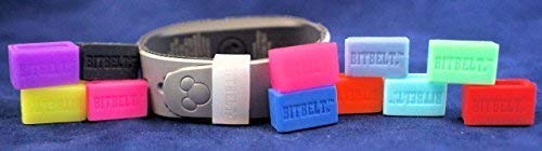 Bitbelt Jr (Small Width) 12 Pack (one of Every Color, 3 That Glow in The Dark!) Compatible with Disney MagicBand (Kids) Fitbit Alta, Flex, Amiigo, Striiv, Garmin Vivosmart, Misfit