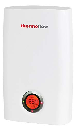 Thermoflow 24KW at 240 Volts Tankless Water Heater Electric, On Demand Instant Hot Water Heater with Self-Modulating Temperature Technology, CSA Certified Wall Mounted