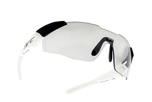 NRC X1 RR Ghost, Occhiali Unisex – Adulto, Bianco Opaco/Nero Opaco, Taglia Unica