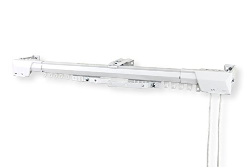 Rod Desyne Heavy Duty Adjustable Traverse Rod, 84 x 156, White