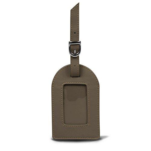 Lucrin Gepäckanhänger Ovale Gepäcketikette - Färsenleder, Glatt - Leder - Dunkelbraun BG1061_VCLS_TPF