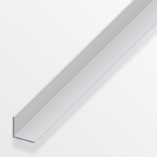 Gleichschenkliges Winkelprofil, Aluminium/eloxiertes Silber, 200cm, in verschiedenen Varianten erhältlich–1x 1cm