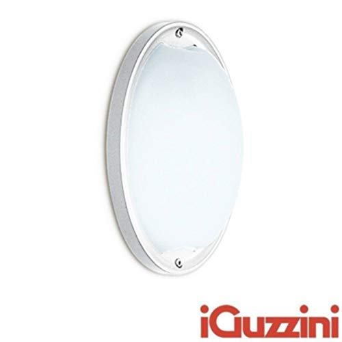 iGuzzini 7116.001 Ellipse Applique Plafoniera Esterni E27 60W Bianco IP54