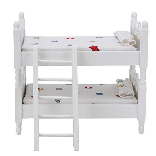 Litera de madera para casa de muñecas 1:12, minilitera simulada para casa de muñecas en miniatura, muebles de escena, accesorio (patrón geométrico)