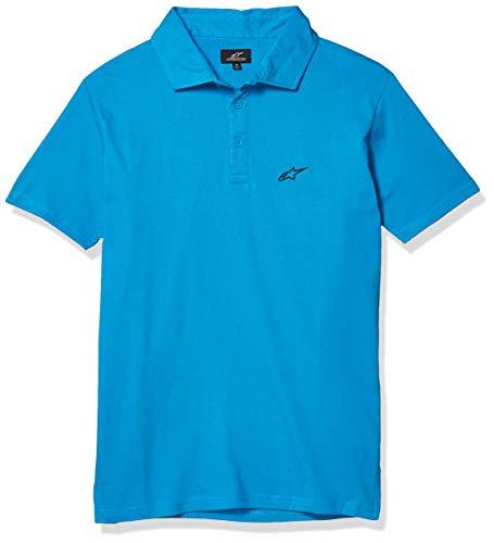 Alpinestars Men's Perpetual Polo Short Sleeve Shirt Turquoise L