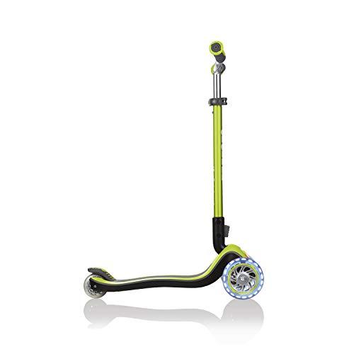 Globber Elite Prime (cubierta de cabeza plana + rueda de luz con barra anodizada Tbar) 444-806 verde lima translúcido