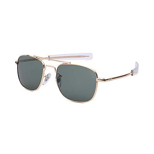 zxldsjhd Tendencia Ao Gafas de sol de cristal Personalizado Espejo de conducción polarizado Moda Gafas de sol cuadradas de metal