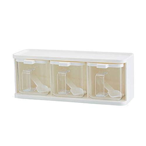 Spice Jars Grids Lepel Keuken Met Deksel Container Kruiden Box Herb Specerijen Opslag Creature Jar Koken met Handvat…