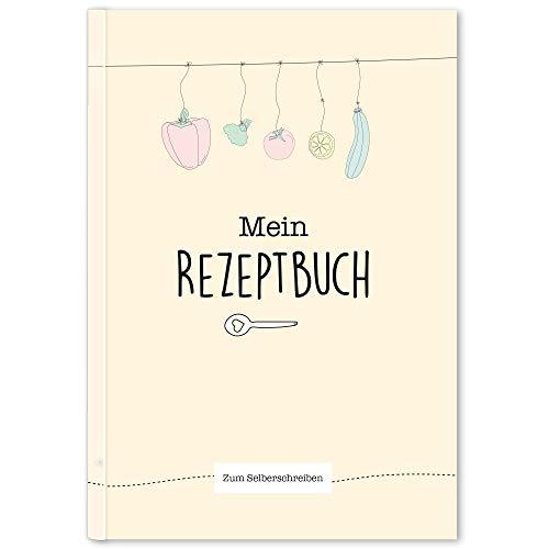 CUPCAKES & KISSES® Rezeptbuch zum selberschreiben mit Register I Kochbuch I Backbuch I DIN A5 I 96 Seiten I Platz für 44 Rezepte I Made in EU