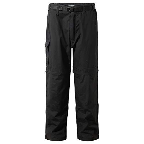 Craghoppers Kiwi Pantalon zippé pour homme, noir, 48, (Short 29\