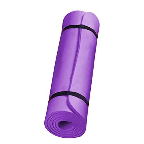 TYUTYU Yoga Mat Anti-Skid Deportes Fitness Fitness Mat Confort Foam Yoga Matt para la Almohadilla de Ejercicio Mujeres Deporte Yoga Gimnasia Pilates Mats (Color : Purple)