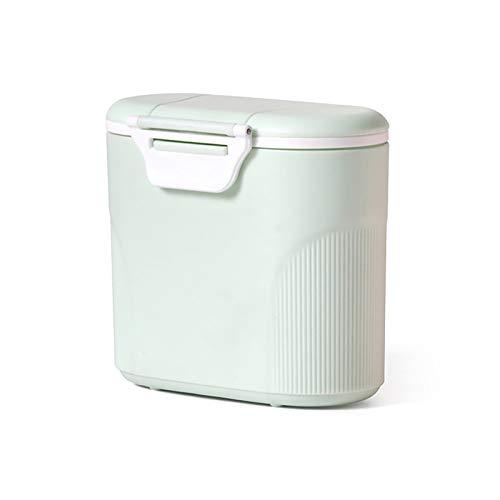 Milchpulver Kasten Milchpulver Portionierer Milchpulver Spender,600g Aufbewahrungsbox Milchpulver Behälter mit Löffel,Milchpulver Dose Baby Dosierbehälter Box von Baby Obst und Lebensmitteln (Grün)