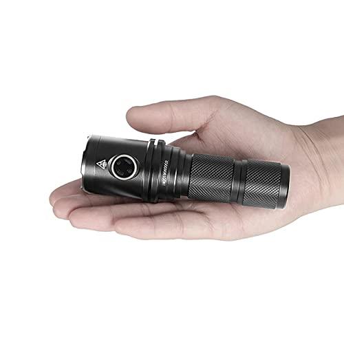 2000 Lúmenes, Fashlight DM35, Lámpara De Mano De Linterna Portátil Recargable LED, Iluminación Exterior Impermeable XHP35 Hola LED Linterna LED